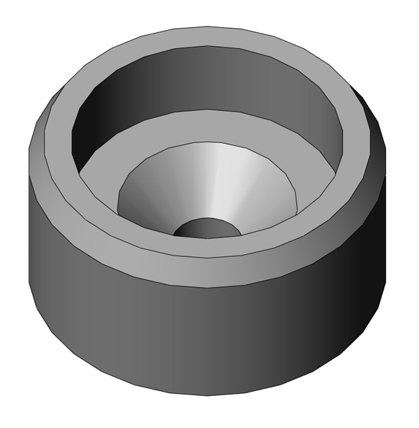 Blank metal BHL insert for fastener head diameters less than 0.5""