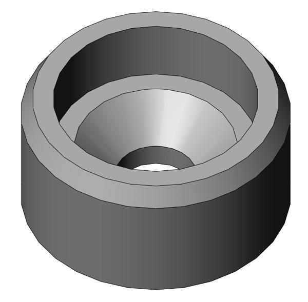 "Metal BHL insert for fastener head diameters less than 0.5"""