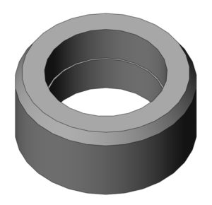 "Blank metal BHL insert for fastener head diameters greater than 0.5"""