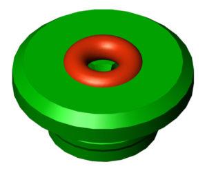 "Vacuum FHL Electrode Guide 3/32"", Nominal, Green"