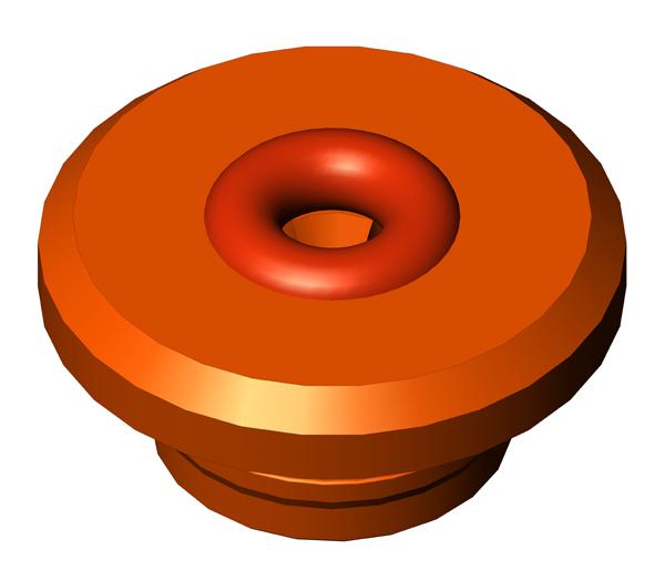 """Vacuum FHL Electrode Guide 1/8"""", Nominal, Orange"""