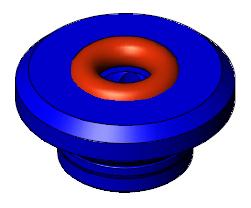 """Vacuum FHL Electrode Guide 5/32"""", Nominal, Blue"""