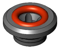 "Vacuum FHL Electrode Guide 3/8"", Nominal, Gray"
